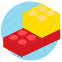 breakdown, lego, piece, pieces icon