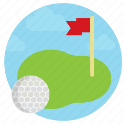 country club, golf, golf course, hole in one, put, success, swing icon