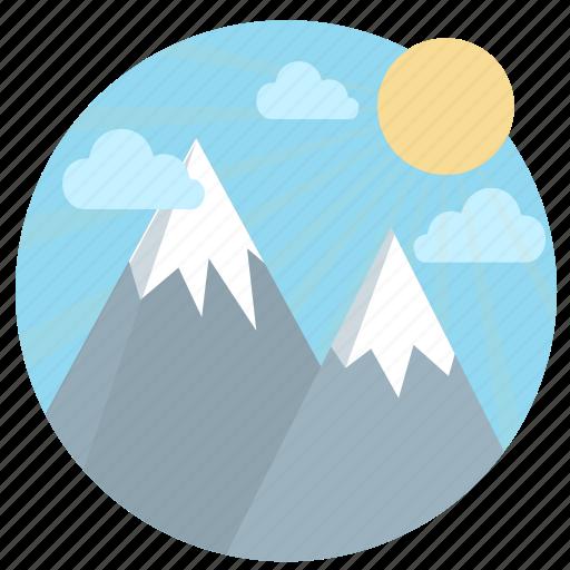 elevation, mountain, peak, success, summit, travel, vantage point icon