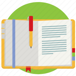 diary, journal, note, notebook, notes, schedule, write icon