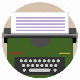 key pay, old school, type, typewriter, typing, vintage, write icon