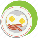 bacon, breakfast, eggs, food, morning icon