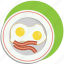 bacon, breakfast, eggs, food, morning icon