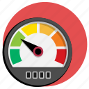 car, display, kph, mph, speed, speedometer icon