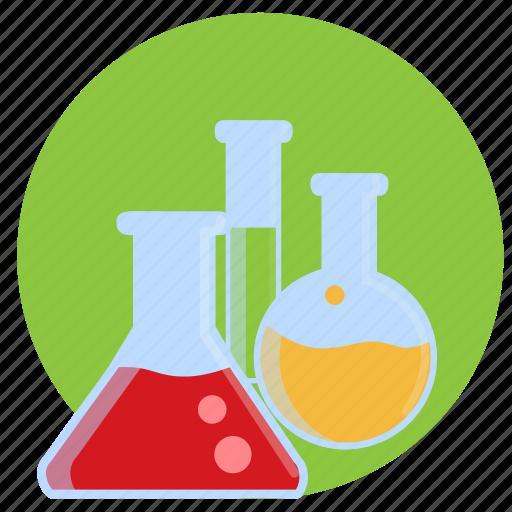 bottles, lab, laboratory, potion, potions, test tube icon