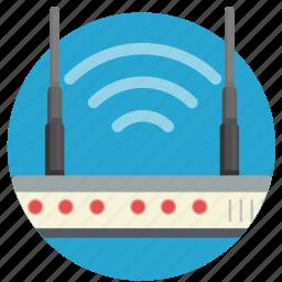 communication, internet, modem, router, transmit, wi-fi, wifi icon