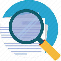 enlarge, find, locate, magnify, paper, search icon