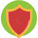 anti, emblem, lock, protect, shield icon