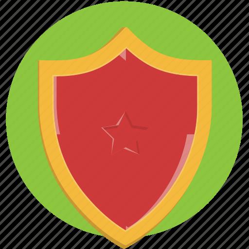 anti, emblem, lock, protect, shield icon