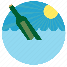 lost, message, message in a bottle, sea icon