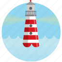 find, light house, locate, ocean, sea icon