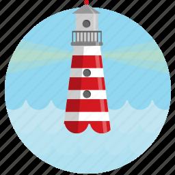 find, light house, locate, ocean, sea icon