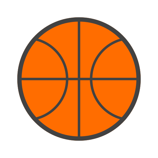 ball, baquete, basketball, buried, hoop, orange, sport icon