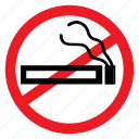 ban, cigarette, disease, no, smoke, symbols, warning icon