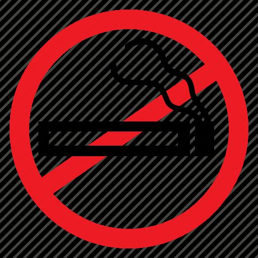 ban, cigarette, disease, no, smoke, symbols, warning icon