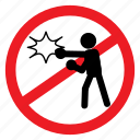 ban, brawl, fight, sign, symbols, violance, warning icon