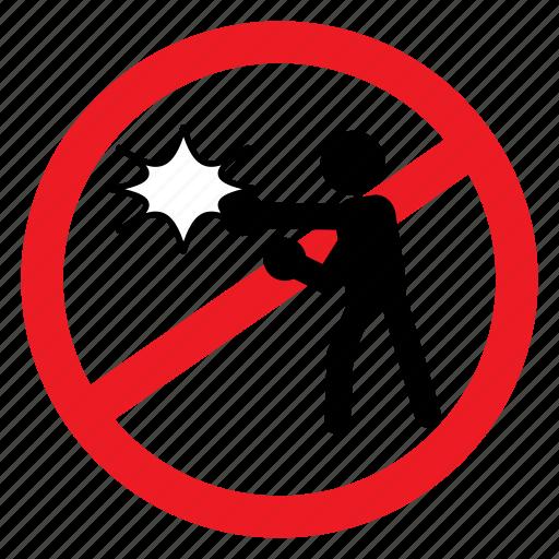 ban, brawl, fight, sign, symbols, violance, warning icon