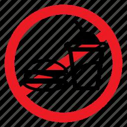 ban, beverage, eat, food, healthy, sign, warning icon
