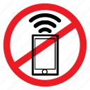 ban, browsing, no, notice, phone, sign, signal icon