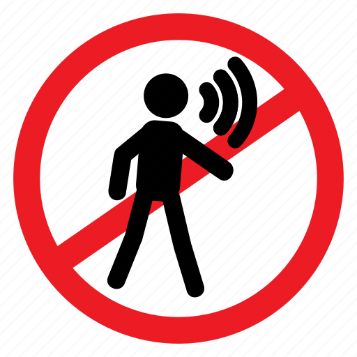 ban, loud, no, notice, scream, sign, speak icon