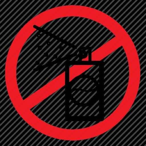 ban, graffiti, no, notice, painting, sign, spray icon