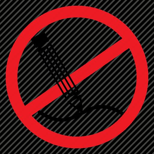 ban, draw, graffiti, notice, pencil, sign, write icon