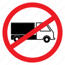 ban, load, no, notice, sign, stuff, truck icon