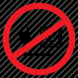 ban, cable, no, notice, plug-in, sign, unplug icon