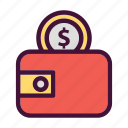 bank, dollar, finance, money, saving, wallet icon