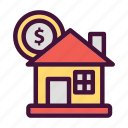 bank, dollar, finance, house, money, saving icon