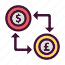 bank, dollar, finance, money, pounds, saving icon