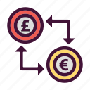 bank, dollar, euro, finance, money, pounds, saving icon