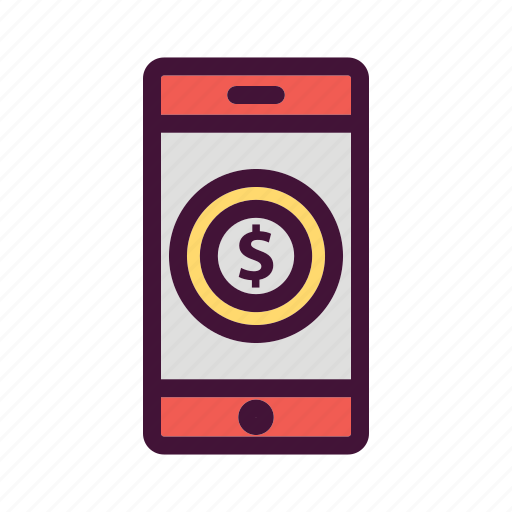 apps, bank, dollar, finance, money, saving, smartphone icon