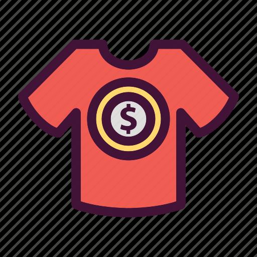 bank, dollar, finance, money, saving, tshirt icon