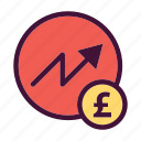 bank, dollar, finance, increase, money, pounds, saving icon