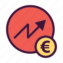 bank, dollar, euro, finance, increase, money, saving icon
