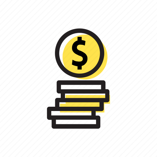 bank, banking, coins, finance, money icon