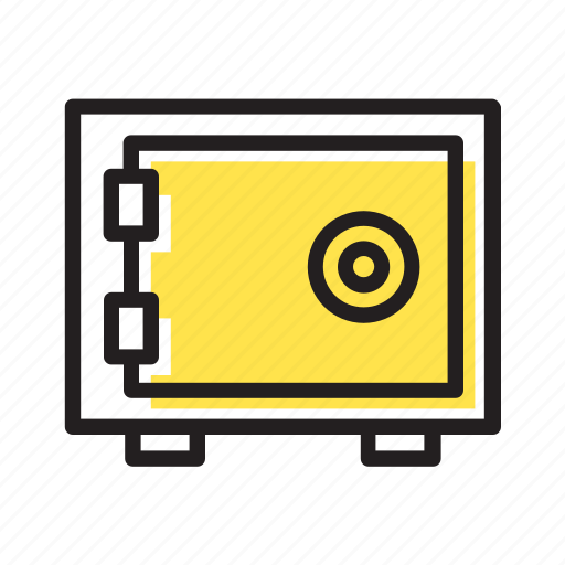 bank, banking, finance, money, safety box icon