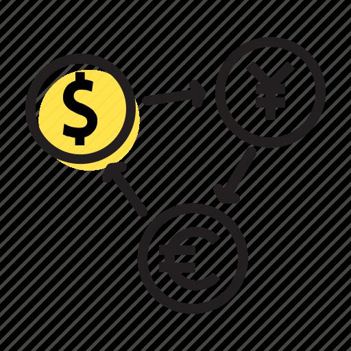 bank, banking, exchange, finance, money icon
