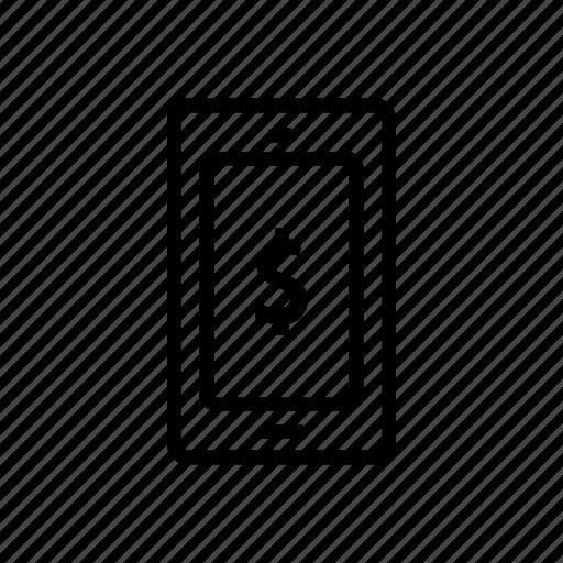 bank, banking, finance, mobile, money icon