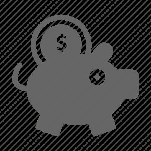 bank, dollar, finance, money, pig, saving icon