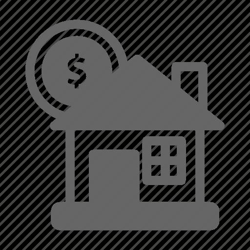 bank, dollar, finance, house, money, saving icon