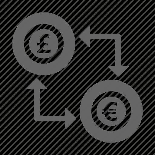 bank, dollar, euro, finance, money, pounds, saving icon