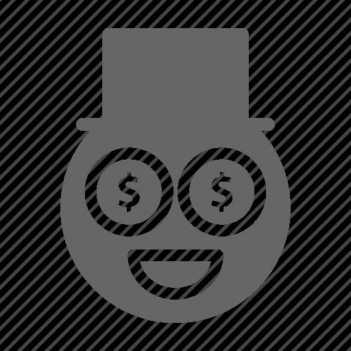 bank, dollar, finance, money, saving, smile icon