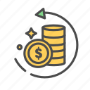 bank, banking, defray, dollar, finance, pay, refund icon