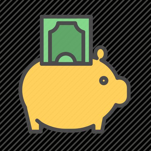 bank, banking, finance, money, piggy, saving icon
