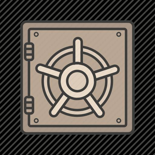 bank, iron, money, protect, safe icon