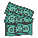 cash, dollar, earn, money, salary icon