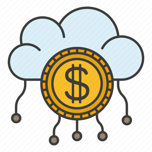 cloud, id, money, pay, system icon