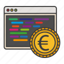 accound, coding, currency, money, system icon